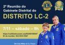 2ª Reunião do Gabinete Distrital – RGD